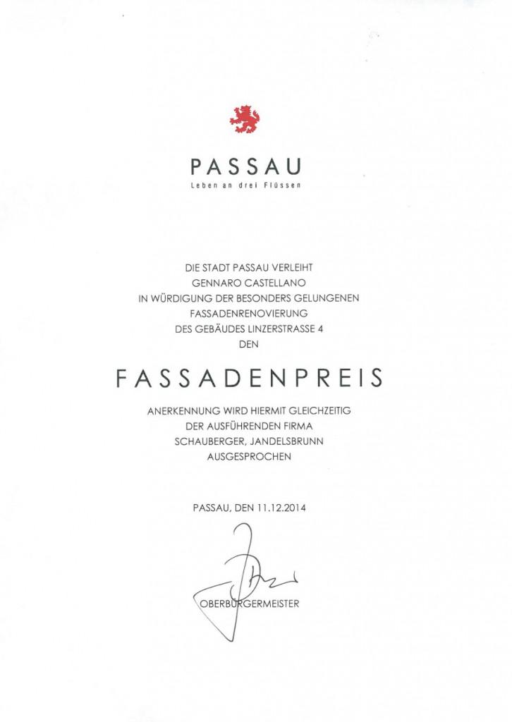 Fassadenpreis der Stadt Passau